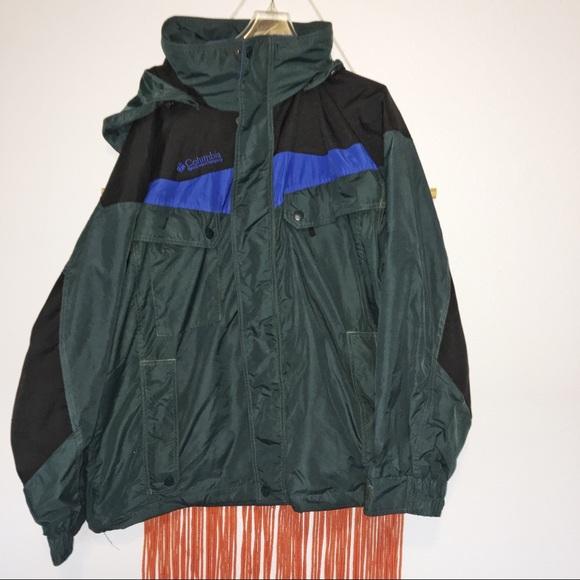 Columbia Green Blue Boulder Ridge Ski Jacket